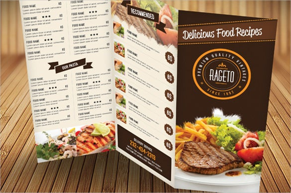 Catering Menu Template Free PSD EPS Documents Download - Delivery menu template