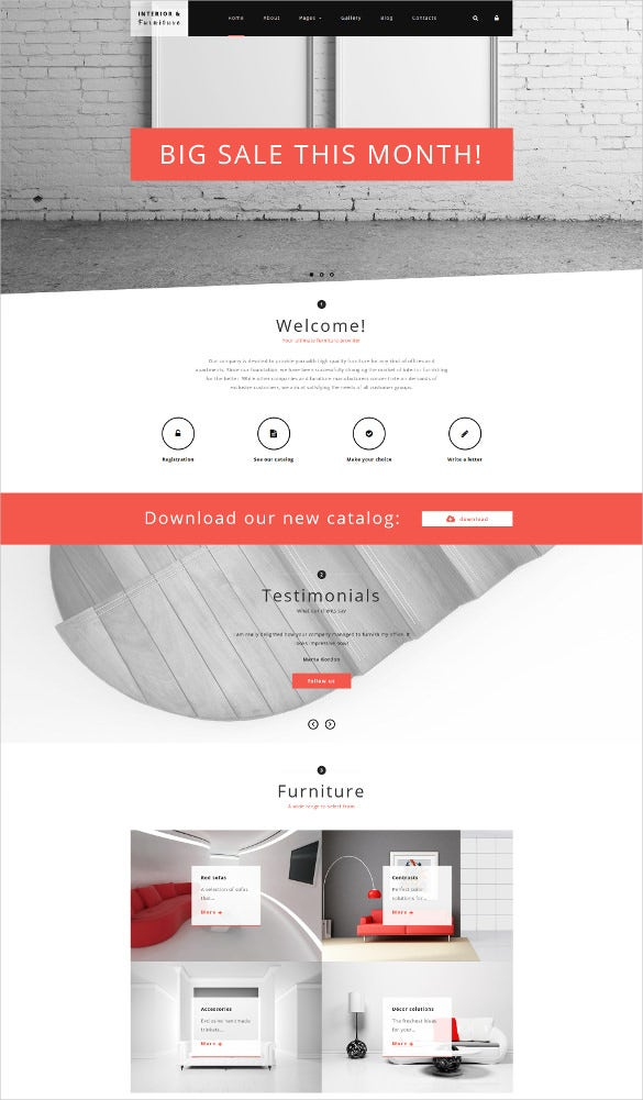 furniture joomla blog template