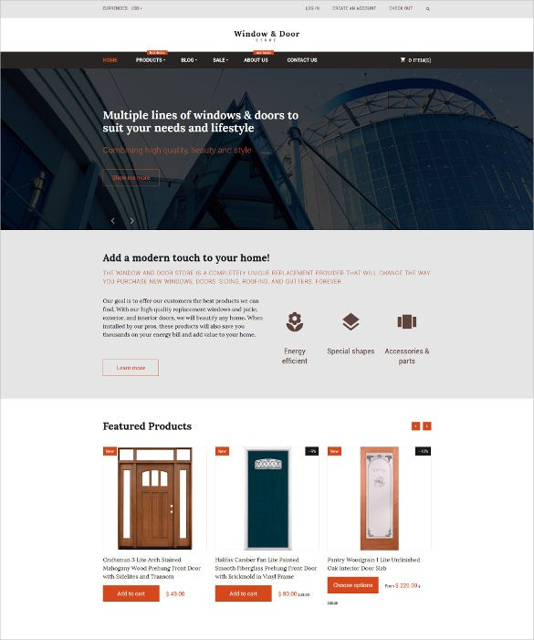 furniture store shopify blog template