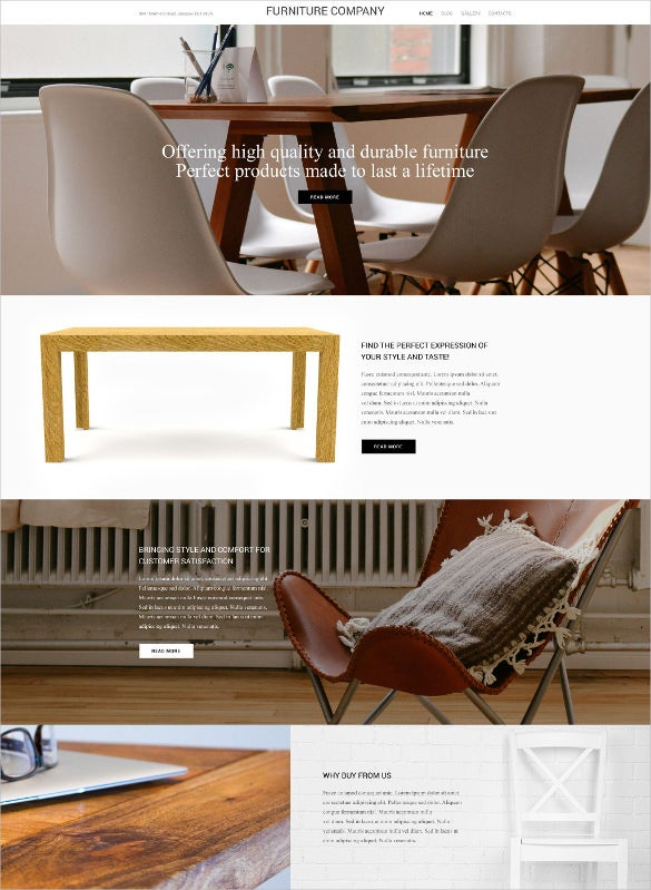furniture company wordpress blog theme