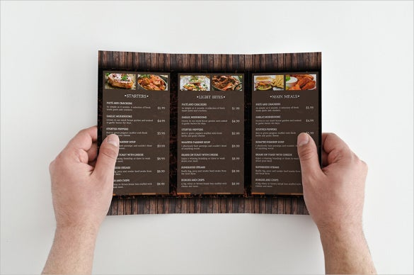 quick and easy menu template