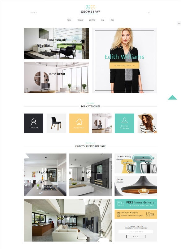 furniture shop blog template