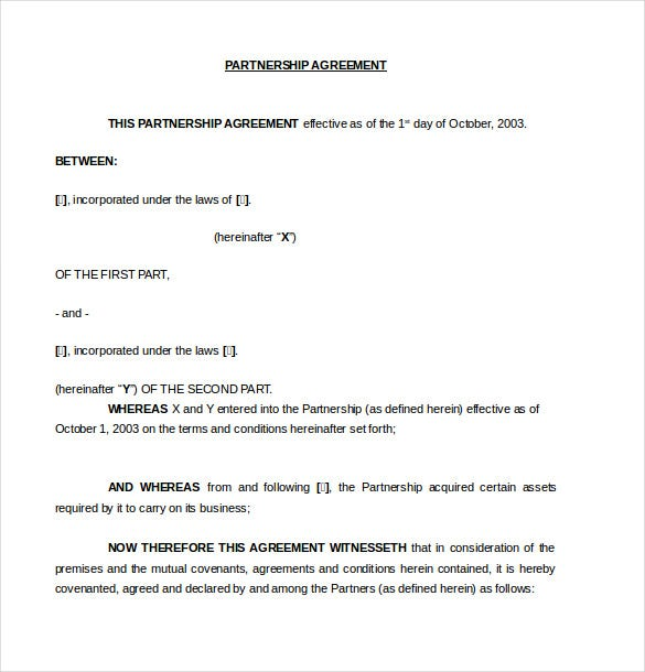 10+ Partnership Agreement Templates – Free Sample, Example, Format ...