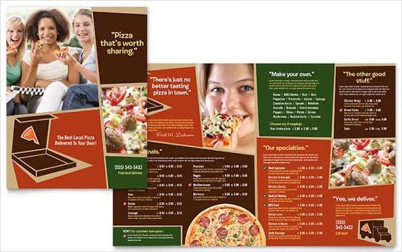 pizzeria restaurant menu template