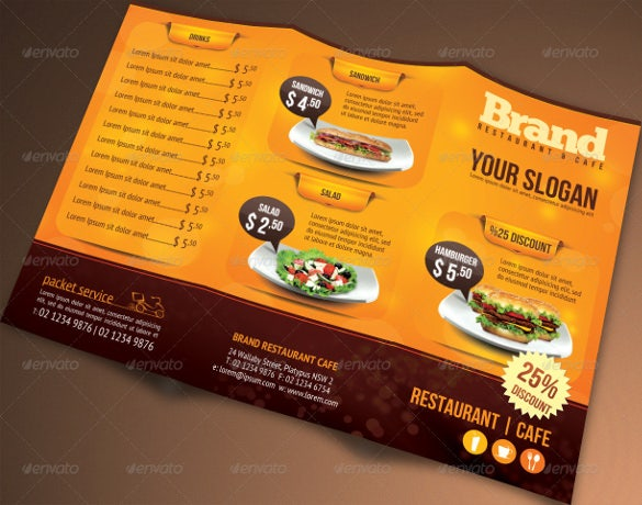 Restaurant Menu Template Free PSD AI Vector EPS Illustrator - Folded menu template