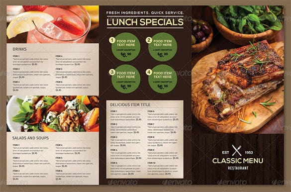 Restaurant Menu Template 44 Free PSD AI Vector EPS – Food Menu Template