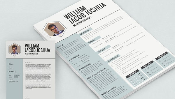 network resume mockup template