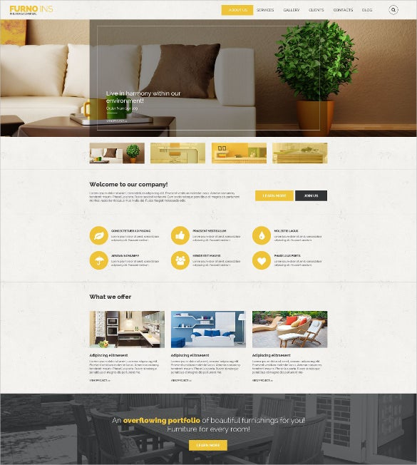 responsive furniture drupal blog theme