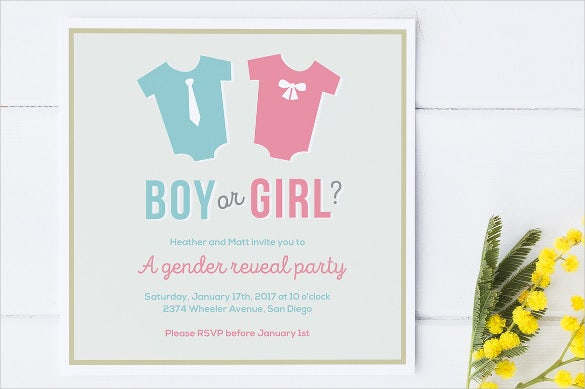Gender Reveal Invitation Templates – Gender Reveal Party Invite