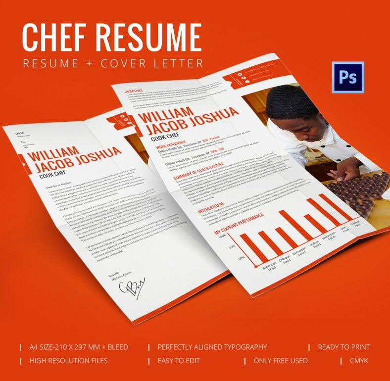 Perfect Chef Resume Cover Letter Template Free Premium Templates