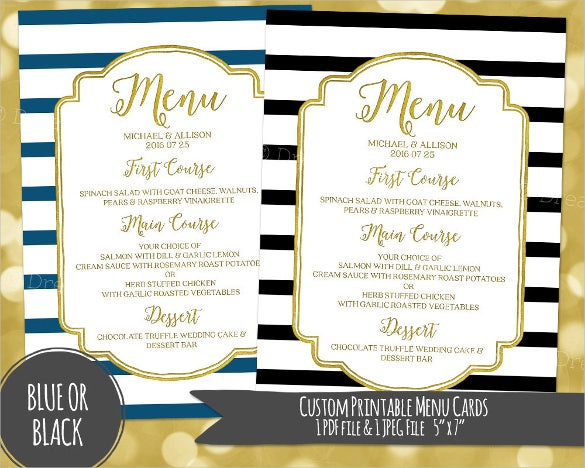 Custom Digital Dinner Menu Template