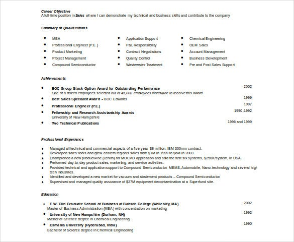 Automobile Resume Template – 22+ Free Word, Pdf Documents Download