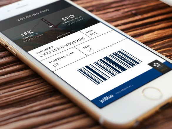 mobile boarding pass design