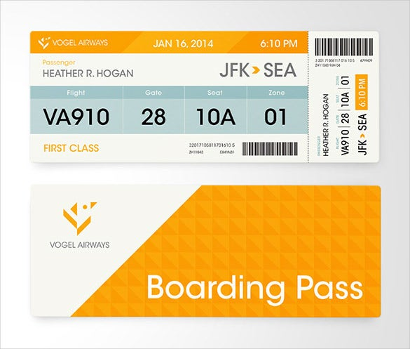 vogel airways boarding pass design download