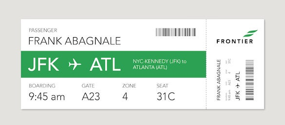passanger boarding pass new design