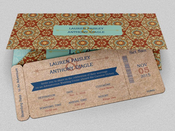 adventure boarding pass invitation design download