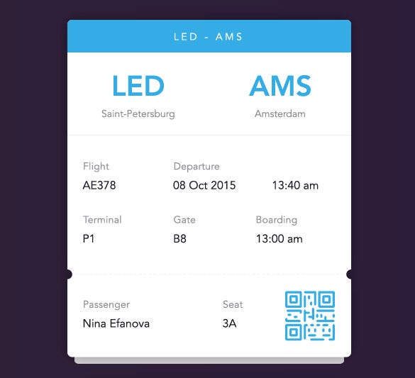 26+ Examples of Boarding Pass Design & Templates - PSD, AI | Free ...