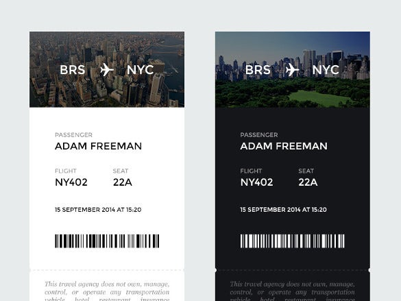 airplane ticket boarding pass design