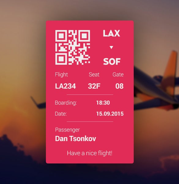 printable lax boarding pass download