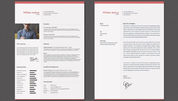 Ceo Resume Cover Letter Template Free Premium Templates