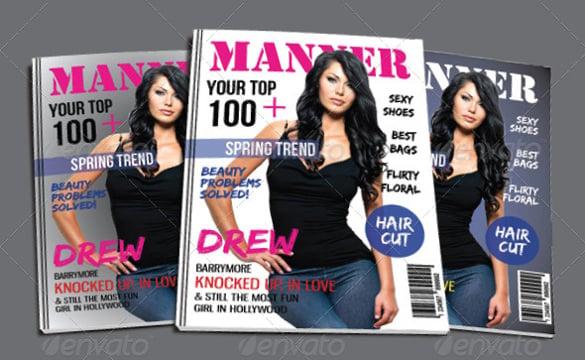 3 magazine cover template