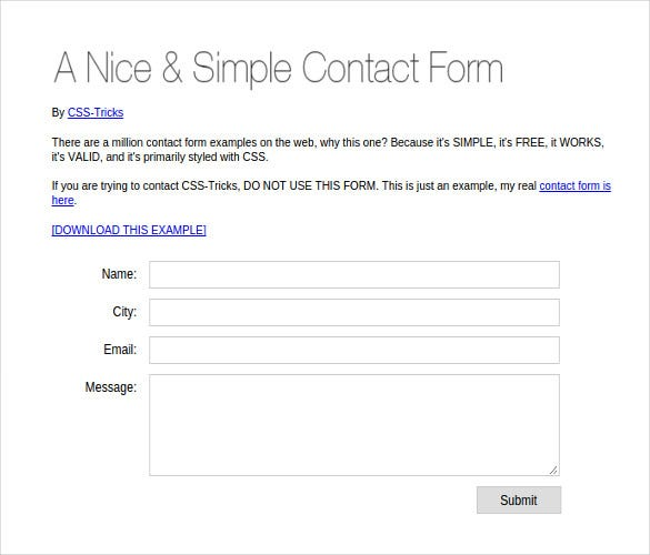 20+ PHP Contact Form Templates Free Website Themes
