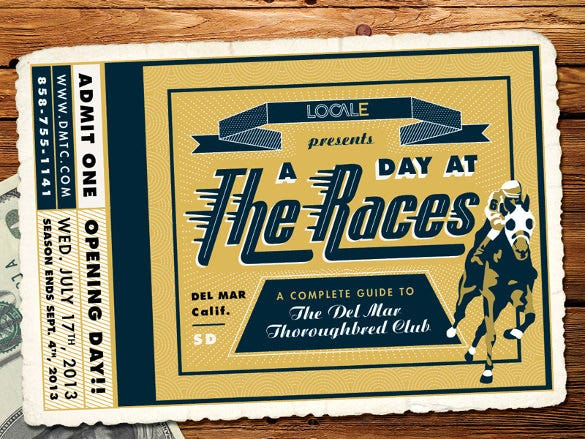 thoroughbred club ticket new design download
