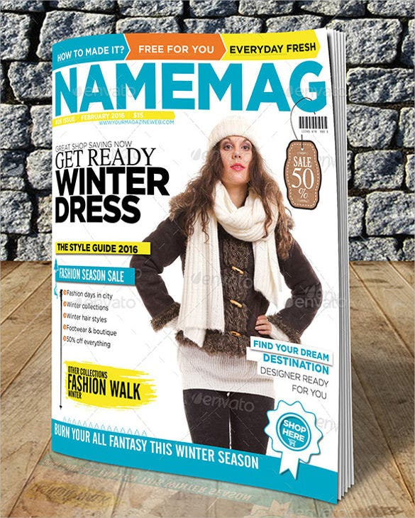 Magazine cover psd templates 54 free psd ai vector for Custom magazine cover templates