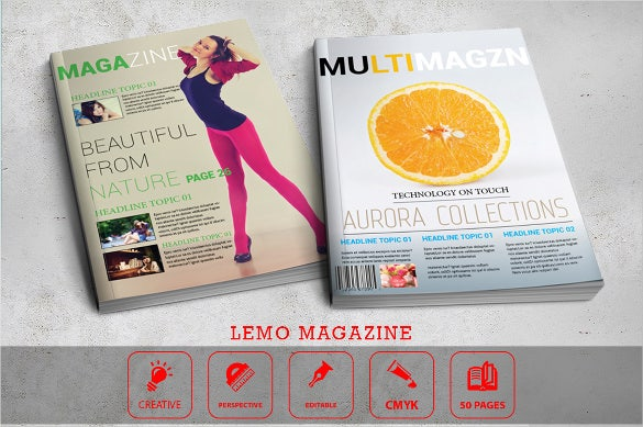 lemo indesign cover template