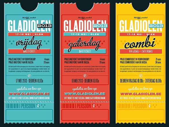 34 Inspiring Examples Of Ticket Designs PSD AI Word Free