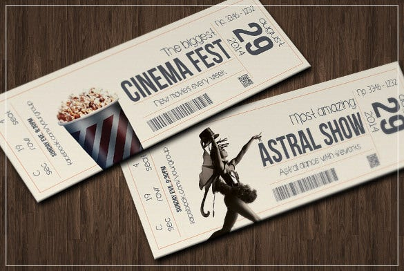 multipurpose retro ticket design download
