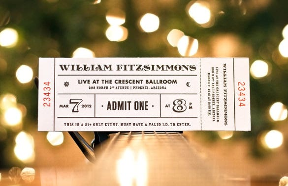 Inspiring Examples Of Ticket Designs  Free  Premium Templates