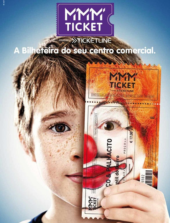 awesome clown mmm ticket printable