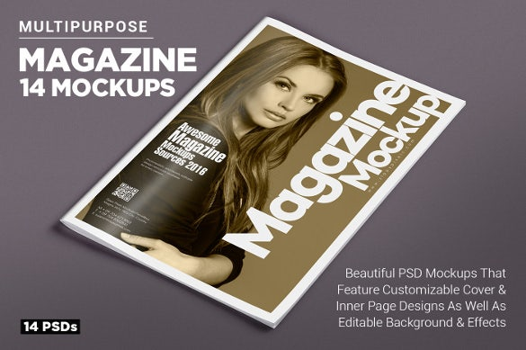 Magazine cover psd templates 54 free psd ai vector for Magazine cover page template psd