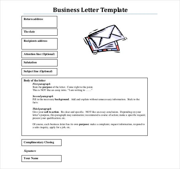 pdf format free download business letter template - Business Letter Format Template