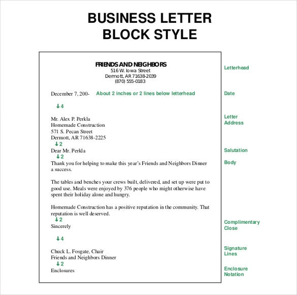 Business Letter Template 44 Free Word PDF Documents – Business Letter Sample Word