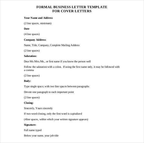 50 business letter templates pdf doc free premium templates formal business letter free pdf template download flashek Images