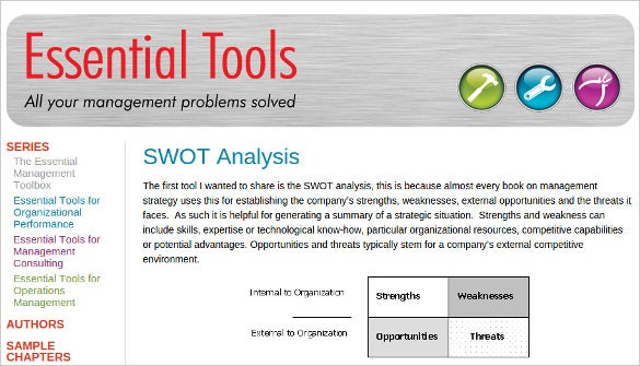 free essential swot analysis tool