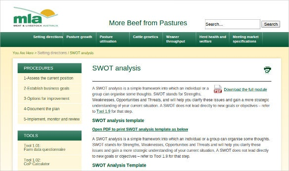 11+ Swot Analysis Tools For Small Business | Free & Premium Templates