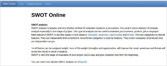 swot online analysis tool for free