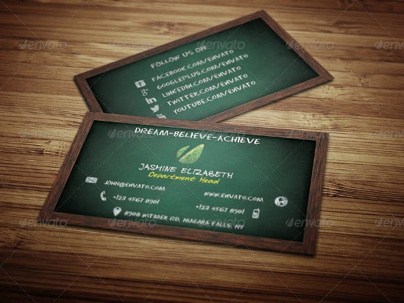 creative teachers business card