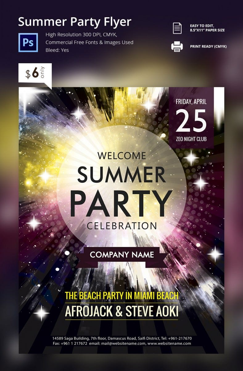 Summer party_flyer