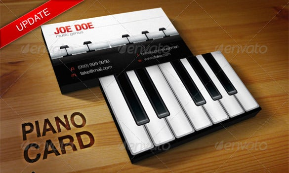 music teachers business card