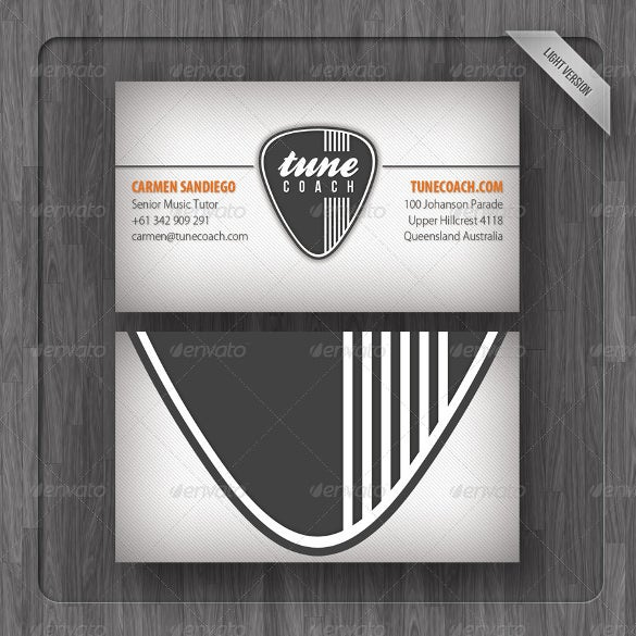 tune coach business card