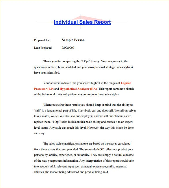 individual sales activity report pdf template free download