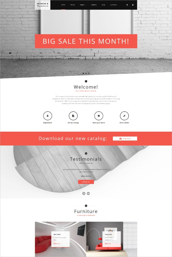 furniture joomla bootstap template