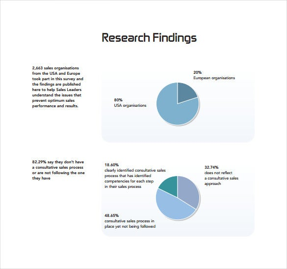 sales research actvity report pdf template free download