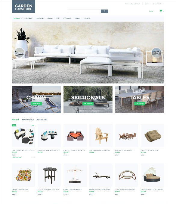 garden furniture prestashop bootstrap theme