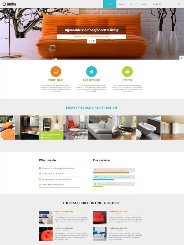 modern furniture joomla bootstrap template