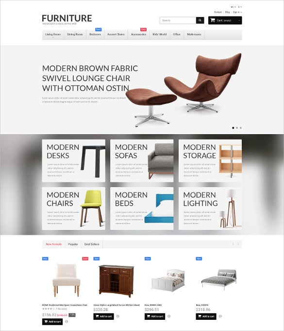 furniture prestashop bootstrap theme